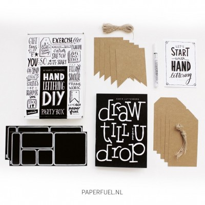 Handlettering Partybox